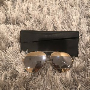 Dior Split Sunglasses Gold/Silver